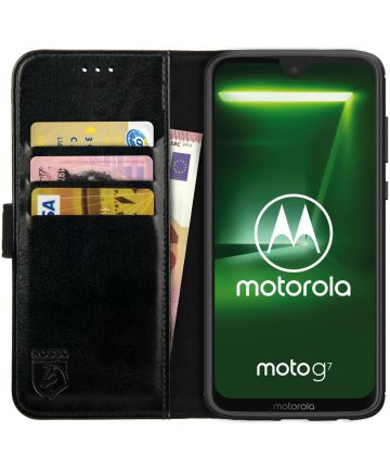Rosso Element Motorola Moto G7 Hoesje Book Cover Zwart