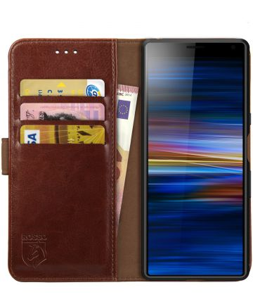Rosso Element Sony Xperia 10 Hoesje Book Cover Bruin Hoesjes