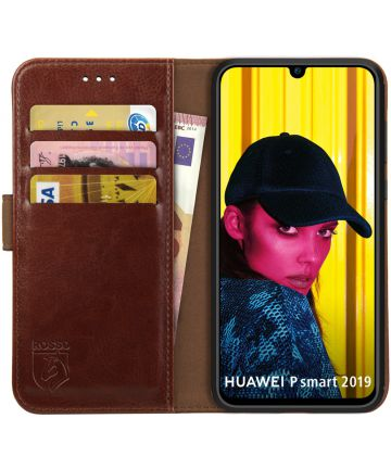 Rosso Element Huawei P Smart (2019) Hoesje Book Cover Bruin Hoesjes