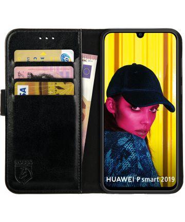 Rosso Element Huawei P Smart (2019) Hoesje Book Cover Zwart Hoesjes