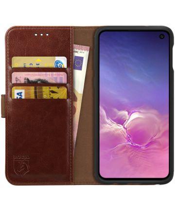 Rosso Element Samsung Galaxy S10E Hoesje Book Cover Bruin