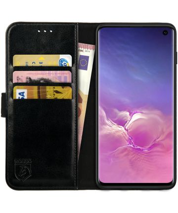 Rosso Element Samsung Galaxy S10 Hoesje Book Cover Zwart