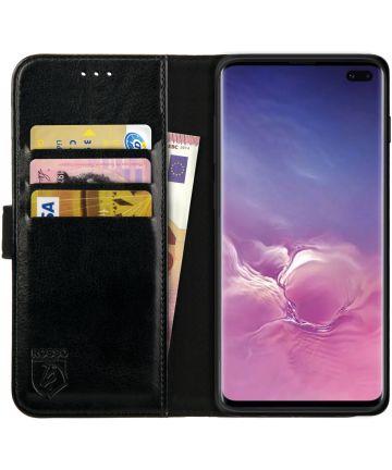 Rosso Element Samsung Galaxy S10 Plus Hoesje Book Cover Zwart Hoesjes