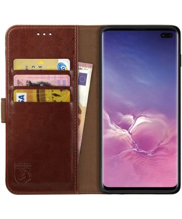 Rosso Element Samsung Galaxy S10 Plus Hoesje Book Cover Bruin Hoesjes