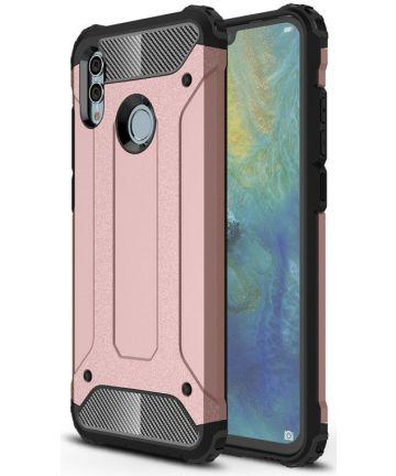 Huawei P Smart (2019) Hybride Hoesje Roze Goud Hoesjes