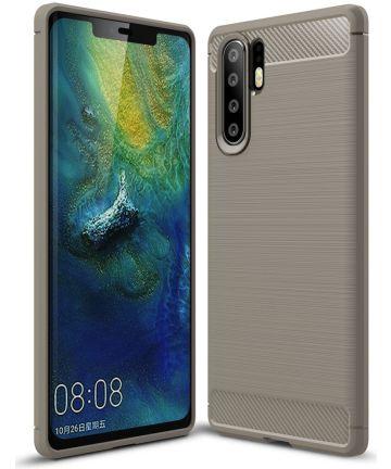 Huawei P30 Pro Geborsteld TPU Hoesje Grijs