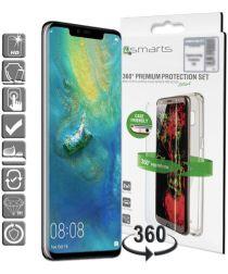 4smarts Tempered Glass + TPU Hoesje Huawei Mate 20 Pro Transparant