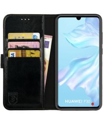 Rosso Element Huawei P30 Hoesje Book Cover Zwart