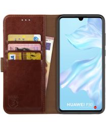 Rosso Element Huawei P30 Hoesje Book Cover Bruin