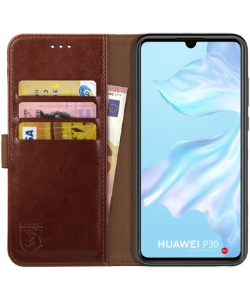 Rosso Element Huawei P30 Hoesje Book Cover Bruin Hoesjes