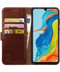 Rosso Element Huawei P30 Lite Hoesje Book Cover Bruin
