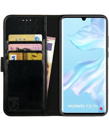 Rosso Element Huawei P30 Pro (New Edition) Hoesje Book Cover Zwart Hoesjes