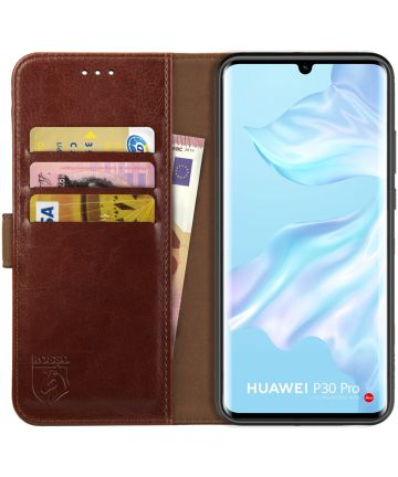 Rosso Element Huawei P30 Pro (New Edition) Hoesje Book Cover Bruin Hoesjes