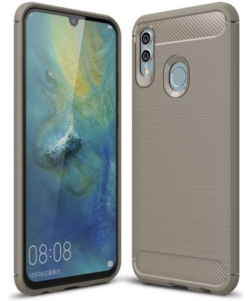 Huawei P Smart (2019) Geborsteld TPU Hoesje Grijs