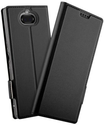 Sony Xperia 10 Plus Luxe Portemonnee Hoesje Zwart