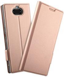 Sony Xperia 10 Plus Luxe Portemonnee Hoesje Roze Goud