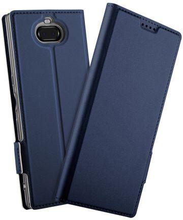 Sony Xperia 10 Plus Luxe Portemonnee Hoesje Blauw