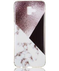 Samsung Galaxy J6 Plus TPU Hoesje met Marmer Opdruk Bruin