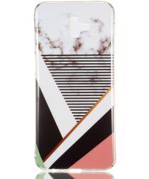 Samsung Galaxy J6 Plus TPU Hoesje met Marmer Opdruk Gestreept