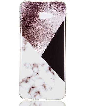 Samsung Galaxy J4 Plus TPU Hoesje met Marmer Opdruk Bruin