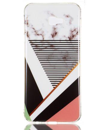 Samsung Galaxy J4 Plus TPU Hoesje met Marmer Opdruk Gestreept