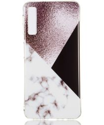 Samsung Galaxy A7 (2018) TPU Hoesje met Marmer Opdruk Bruin