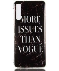 Samsung Galaxy A7 (2018) TPU Hoesje met Marmer Opdruk Vogue