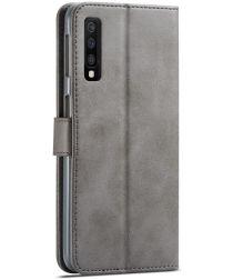 Samsung Galaxy A7 (2018) Stijlvol Portemonnee Bookcase Hoesje Grijs