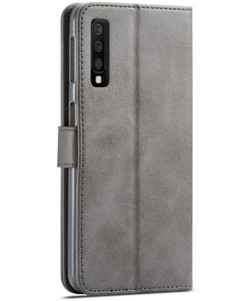Samsung Galaxy A7 (2018) Stijlvol Portemonnee Bookcase Hoesje Grijs Hoesjes