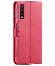 Samsung Galaxy A7 (2018) Stijlvol Portemonnee Bookcase Hoesje Roze