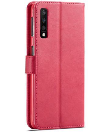 Samsung Galaxy A7 (2018) Stijlvol Portemonnee Bookcase Hoesje Roze Hoesjes