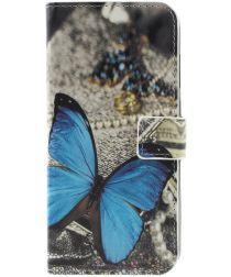 Nokia 5.1 Plus Portemonnee Hoesje met Vlinder Print