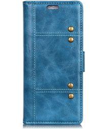 Nokia 3.1 Plus Stijlvol Portemonnee Hoesje Blauw