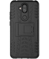 Robuust Hybride Nokia 8.1 Hoesje Zwart