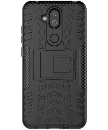 Robuust Hybride Nokia 8.1 Hoesje Zwart Hoesjes