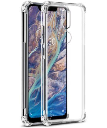Nokia 8.1 TPU Hoesje met Screen Protector Transparant Hoesjes