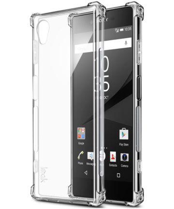 Sony Xperia XA1 Plus TPU Hoesje met Screen Protector Transparant