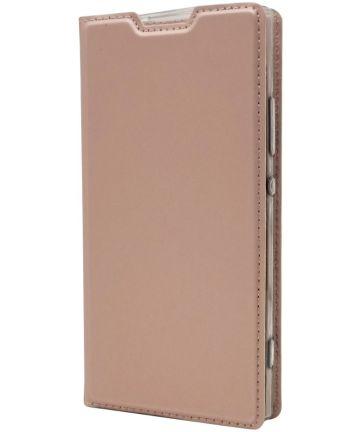 Sony Xperia XA2 Luxe Portemonnee Hoesje Roze Goud