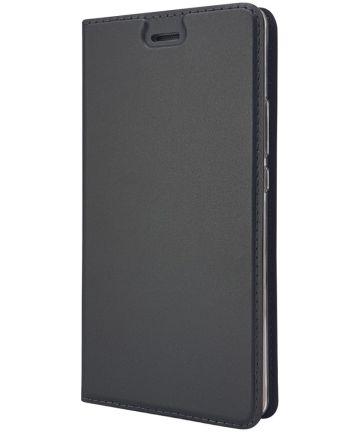 Huawei P9 Lite Luxe Portemonnee Hoesje Zwart