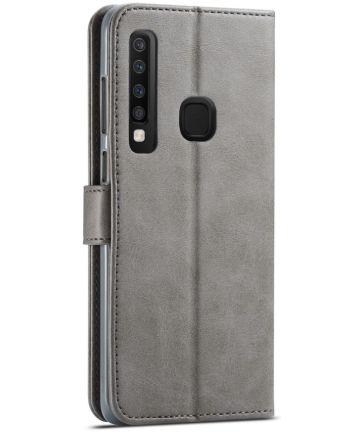 Samsung Galaxy A9 (2018) Portemonnee Bookcase Hoesje Grijs Hoesjes