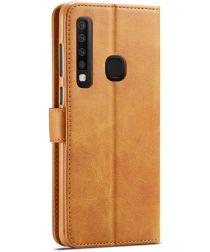 Samsung Galaxy A9 (2018) Portemonnee Bookcase Hoesje Bruin