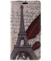 Nokia 5.1 Plus Portemonnee Hoesje met Eiffeltoren Print
