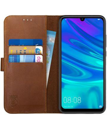 Rosso Deluxe Huawei P Smart 2019 Hoesje Echt Leer Book Case Bruin Hoesjes