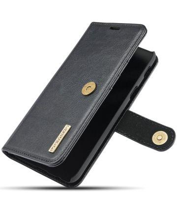 Samsung Galaxy A6 Leren 2-in-1 Bookcase en Back Cover Hoesje Zwart
