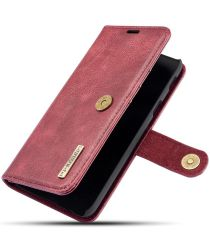 Samsung Galaxy A6 Leren 2-in-1 Bookcase en Back Cover Hoesje Rood