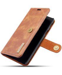 Samsung Galaxy A6 Leren 2-in-1 Bookcase en Back Cover Hoesje Bruin