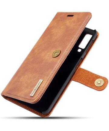 Samsung Galaxy A7 (2018) Leren 2-in-1 Bookcase en Back Cover Bruin Hoesjes