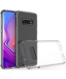 Samsung Galaxy S10E Hoesje Armor Back Cover Transparant