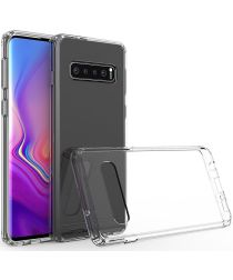 Samsung Galaxy S10 Plus Hoesje Armor Back Cover Transparant