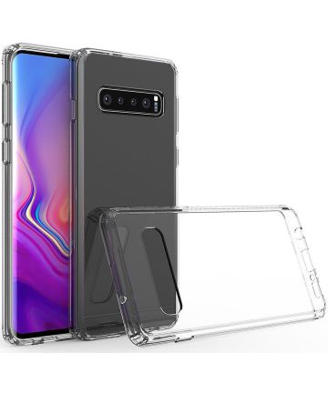 Samsung Galaxy S10 Plus Hoesje Armor Back Cover Transparant Hoesjes